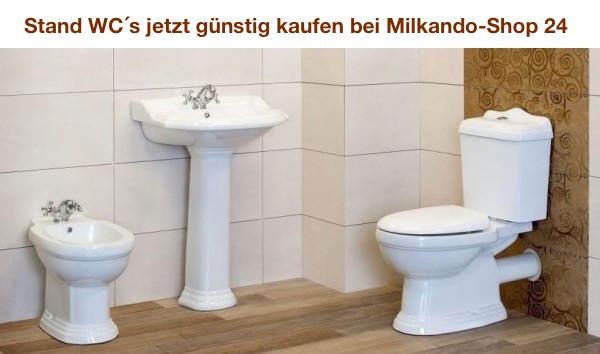 wc stand garnitur g nstig kaufen bei milkando wc sets auswahl. Black Bedroom Furniture Sets. Home Design Ideas